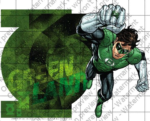 Green Lantern Cake Decorating Kit : Green Lantern s Light Edible Cake Topper