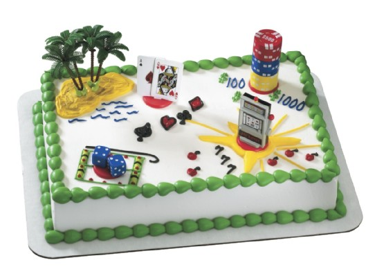 Casino Cake Toppers Gaming